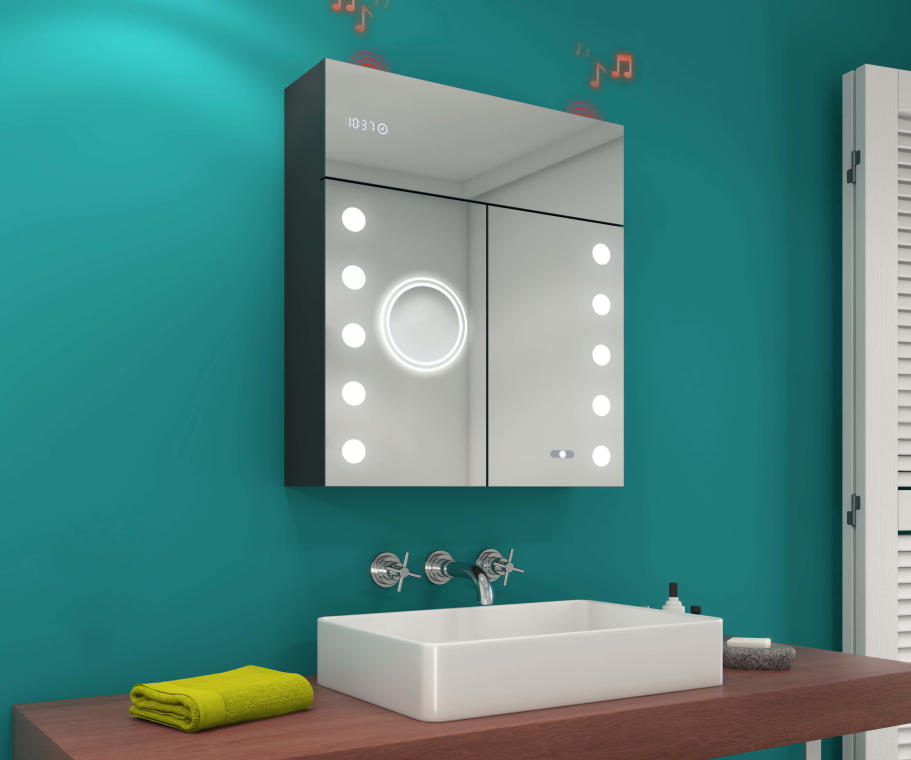 LED Illuminated Mirror Medicine Cabinet L06