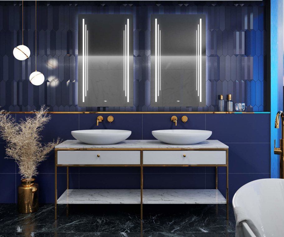 Bathroom mirror with LED light - SlimLine L27